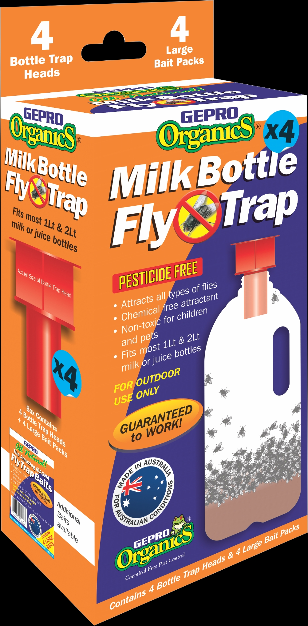 Gepro Organics Milk Bottle Fly Trap