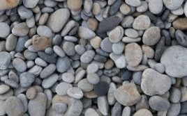 mixed pebbles and stone