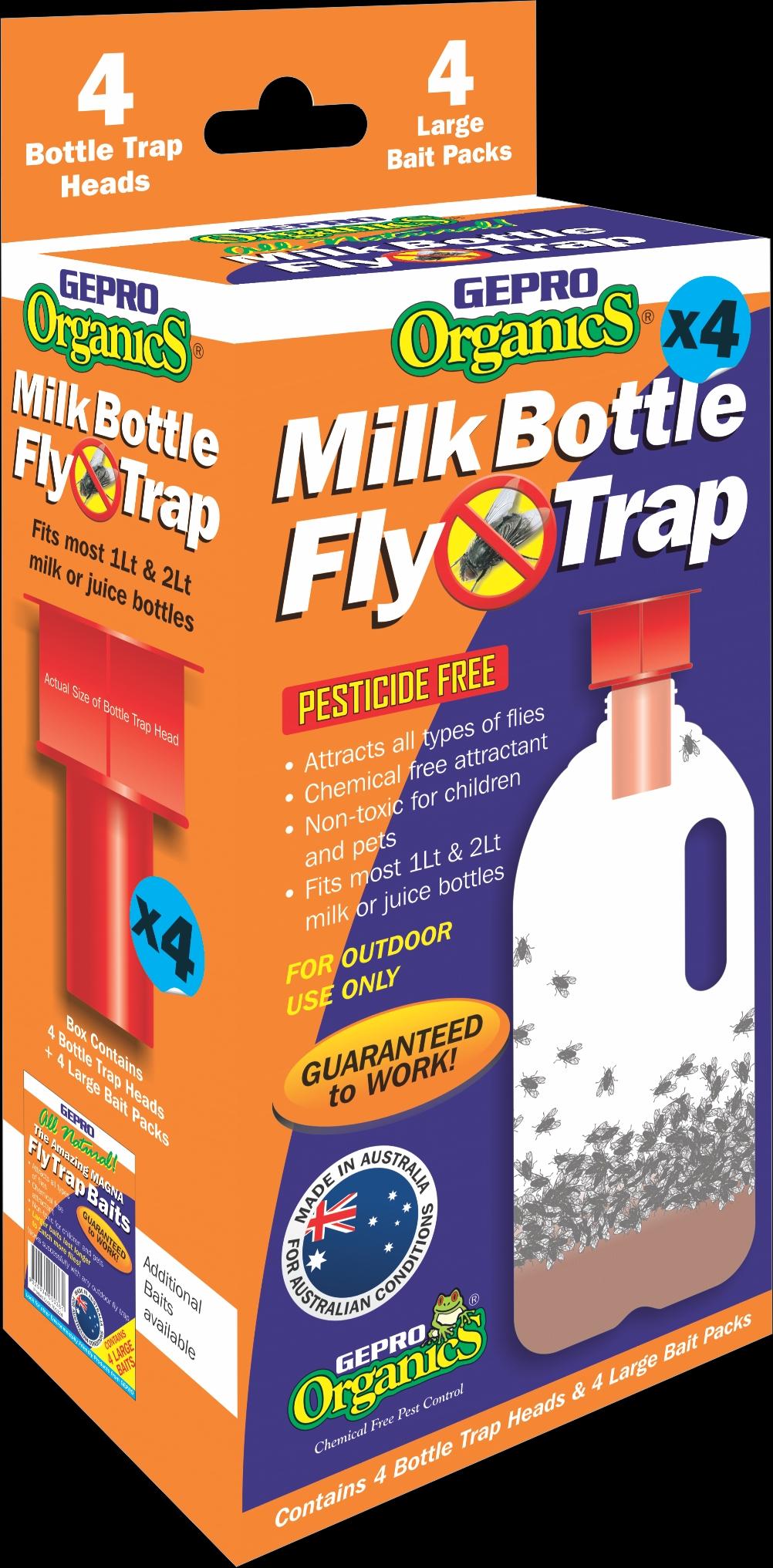 Gepro Organics Milk Bottle Fly Trap